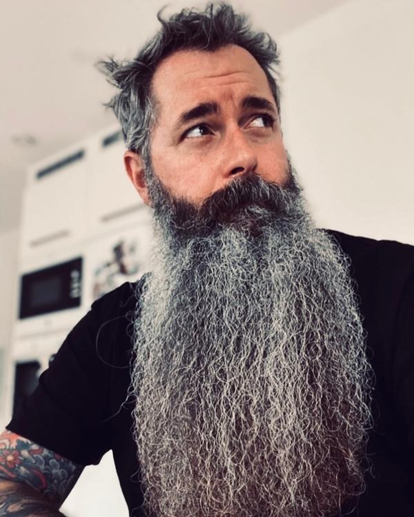 Thick burly beard