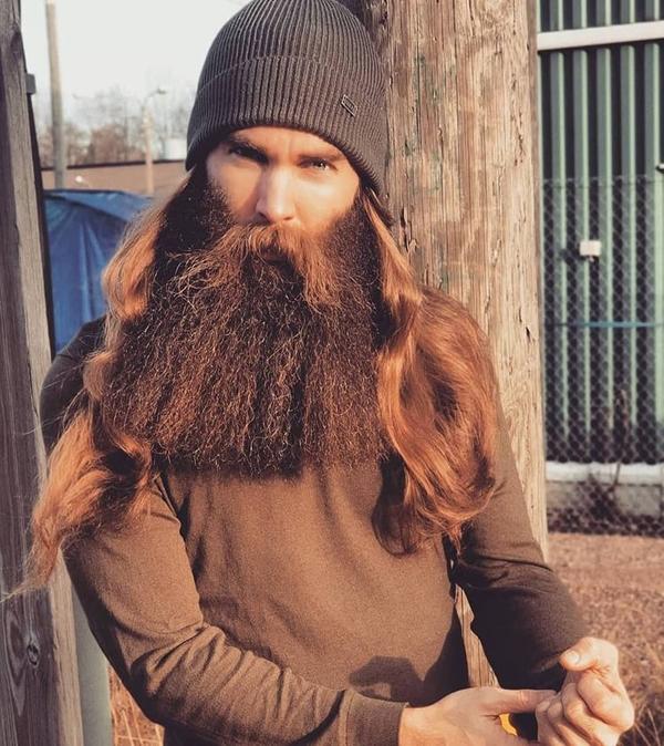Long hipster beard