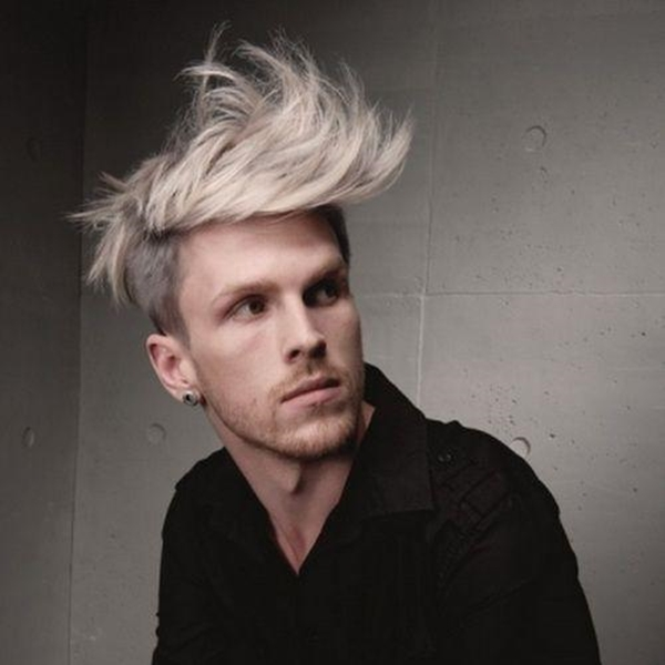 Bleached hair with spikes